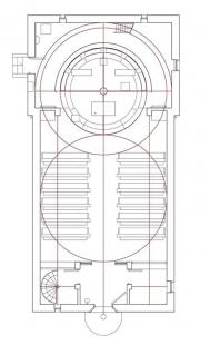 Kostel sv. Ducha na Šumné - Geometrie stavby - půdorys