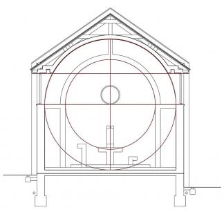 Kostel sv. Ducha na Šumné - Geometrie stavby - řez