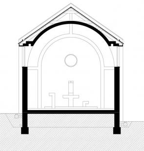 Kostel sv. Ducha na Šumné - Příčný řez lodí