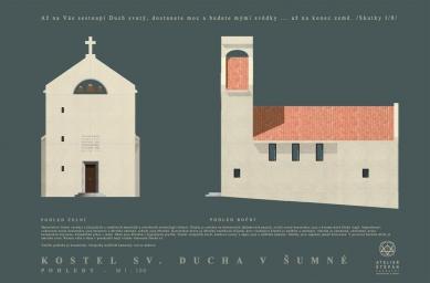 Kostel sv. Ducha na Šumné - Pohledy