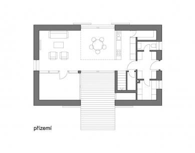 Rodinný dům v Popovičkách II - Přízemí