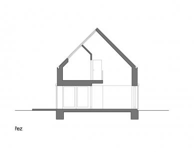 Rodinný dům v Popovičkách II - Řez