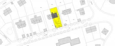 Přestavba a dostavba rodinného domu v Praze - Situace