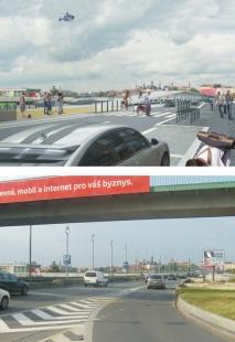 Humanizace pražské magistrály vúseku Nuselského mostu a ulice 5. května - NUSELSKÝ MOST - předpolí Nuselského mostu - foto: Atelier K2
