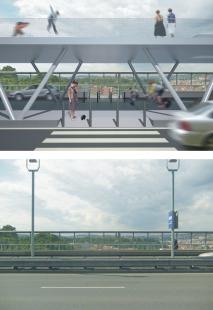 Humanizace pražské magistrály vúseku Nuselského mostu a ulice 5. května - NUSELSKÝ MOST - foto: Atelier K2
