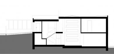 Rodinný dům Dolní Chabry - Řez