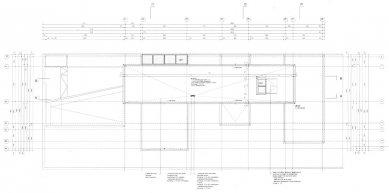 Vila Geurten - Výkres střechy - foto: IR Wiel Arets Architect & Associates