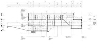Vila Geurten - Podélný řez - foto: IR Wiel Arets Architect & Associates