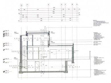 Vila Geurten - Příčný řez - foto: IR Wiel Arets Architect & Associates
