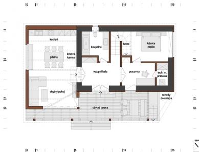 Rodinný dům s obytnou terasou - Přízemí