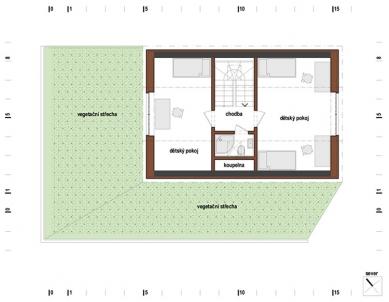Rodinný dům s obytnou terasou - Podkroví