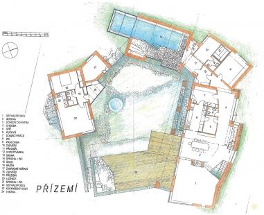 Usedlost v Orlově u Příbrami - Přízemí