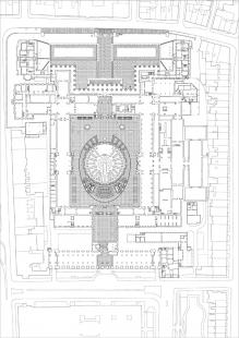 Queen Elizabeth ll Great Court, British Museum - Půdorys přízemí - foto: Foster and Partners