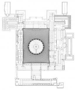 Queen Elizabeth ll Great Court, British Museum - Výkres střech - foto: Foster and Partners