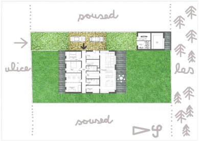 Ekologický rodinný dům v Senci u Plzně - Situace