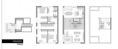 Interiér bytu Hanspaulka - Půdorys