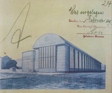 Turbínová hala AEG - Dobová pohlednice