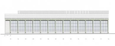 Turbínová hala AEG - Boční pohled