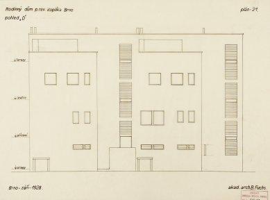 Rodinný dům V. K. - Pohled severní - foto: Sbírky Muzea města Brna