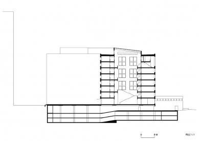 Nová budova ČVUT - Řez