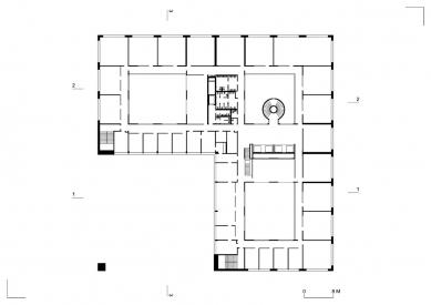 Nová budova ČVUT - Typické podlaží
