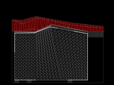 Sportovní hala Podčetrtek - Výkres střechy - foto: enota