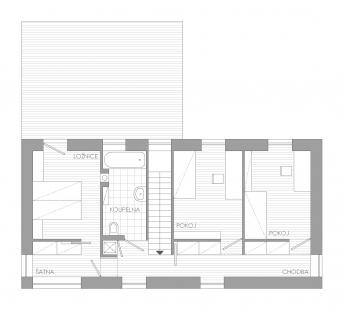 Rodinný dům v Říčanech - 2NP