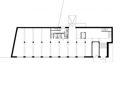 Obchodní centrum PORT - Půdorys přízemí - foto: Pinkas Žalský Architekti