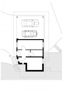 Dostavba rodinného domu v Kostelci u Heřmanova Městce - Půdorys 1.np - foto: Pinkas Žalský Architekti
