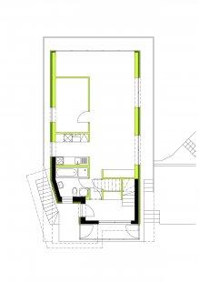 Dostavba rodinného domu v Kostelci u Heřmanova Městce - Půdorys 2.np - foto: Pinkas Žalský Architekti