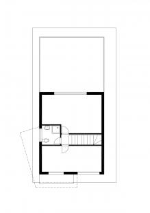 Dostavba rodinného domu v Kostelci u Heřmanova Městce - Půdorys 3.np - foto: Pinkas Žalský Architekti