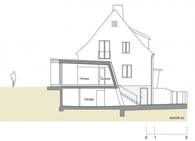Folded Corten House - Řez - foto: x architekten