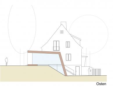 Folded Corten House - Východní pohled - foto: x architekten