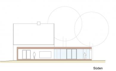 Folded Corten House - Jižní pohled - foto: x architekten