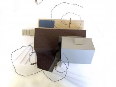 Folded Corten House - Model - foto: x architekten