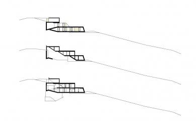 Skládaný dům - Řezy - foto: x architekten
