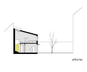 Architektonický ateliér Projektil Architekti - Příčný řez