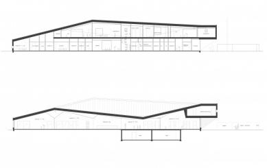 Mateřská škola ve Fagerborgu - Podélné řezy - foto: Reiulf Ramstad Arkitekter