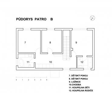 Dům R + Dům B - Dům B - patro