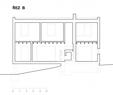 Dům R + Dům B - Dům B - řez