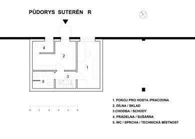 Dům R + Dům B - Dům R - suterén