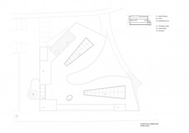 Museum Mimesis - půdorys střechy