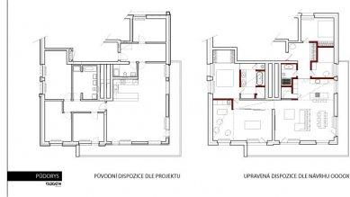 Interiér bytu Holešovický Pivovar - Půdorys