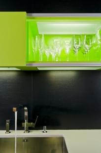 Interiér bytu Holešovický Pivovar - foto: Martin Zeman