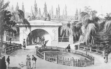 Revitalizace městského parku Studánka - Pramen zdraví na Františkově, akvarel F. Richter, 1826 - foto: Moravská galerie v Brně