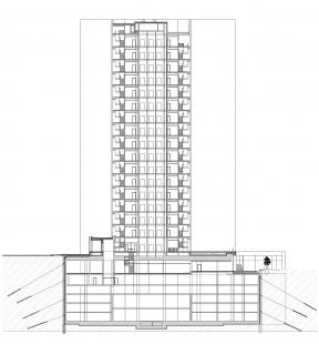 Budova Filadelfie - Řez
