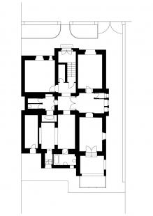 Rekonstrukce bytu pro překladatele - Půdorys - původní stav