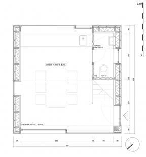 Zahradní domek - Půdorys přízemí