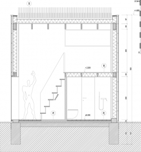 Zahradní domek - Řez