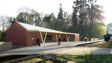 Železniční zastávka Čeladná - Vizualizace